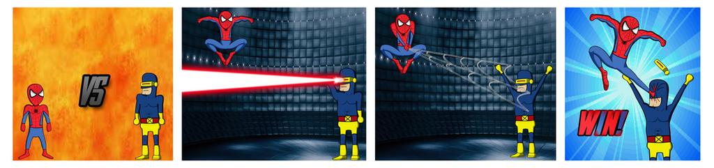 Spiderman vs Cyclops by Toree182