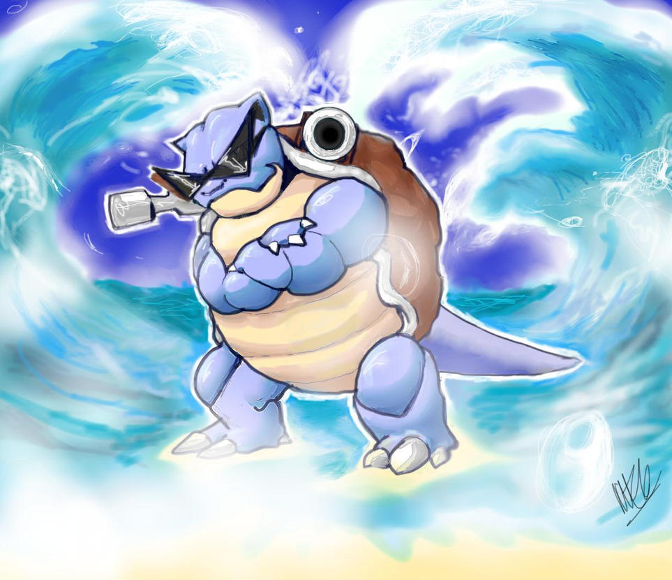 Blastoise, Leader of the Squirtle Squad 2.0 by Plaid-F on ...