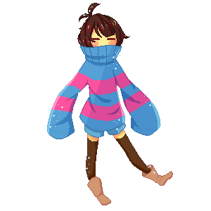 Frisk Free Pagedoll by MarchBunny