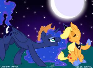 Luna and Applejack