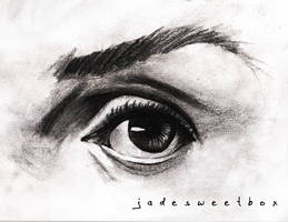 Eye Study Charcoal by Jadesweetboxx