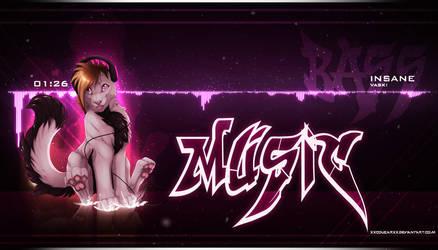 .:Bass Mu$ic Visualizer:. + Speedpainting by xXCougarXx