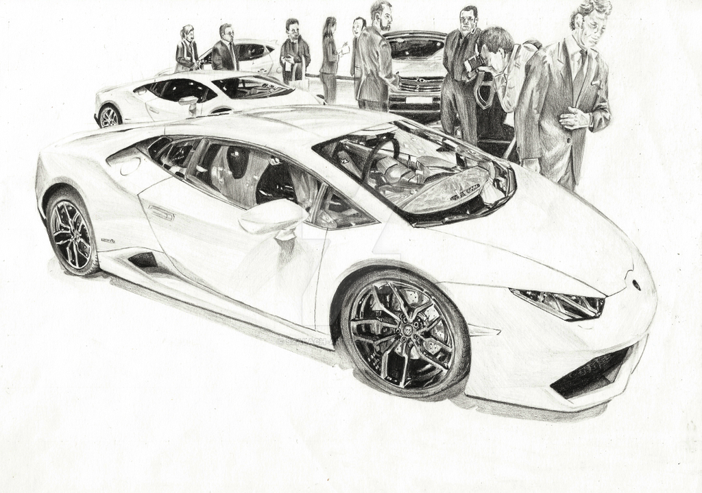 Line Drawings From D Models : Lamborghini huracan by szalach art on deviantart