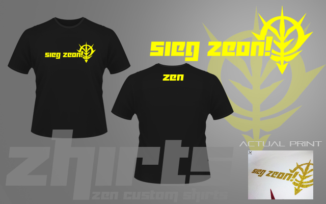 Pictures of Sieg Zeon Shirt - #rock-cafe