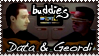 Data and Geordi Stamp by explodingmuffins
