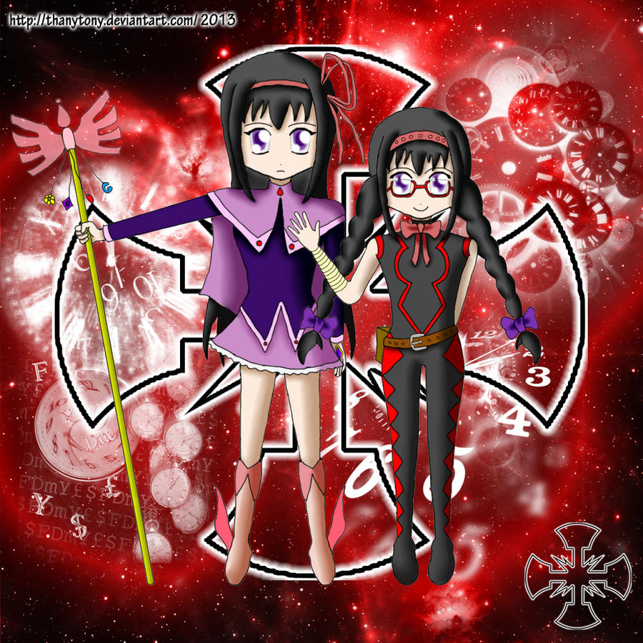 Red Twilight: Agent Moemura and Captain Homura by ThanyTony