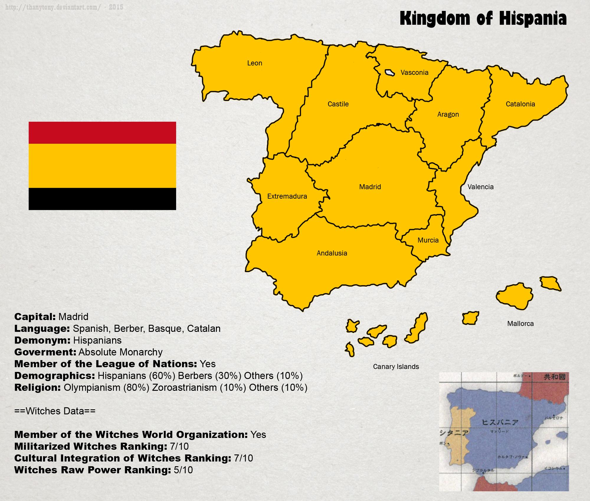 SW: Map of Hispania by ThanyTony