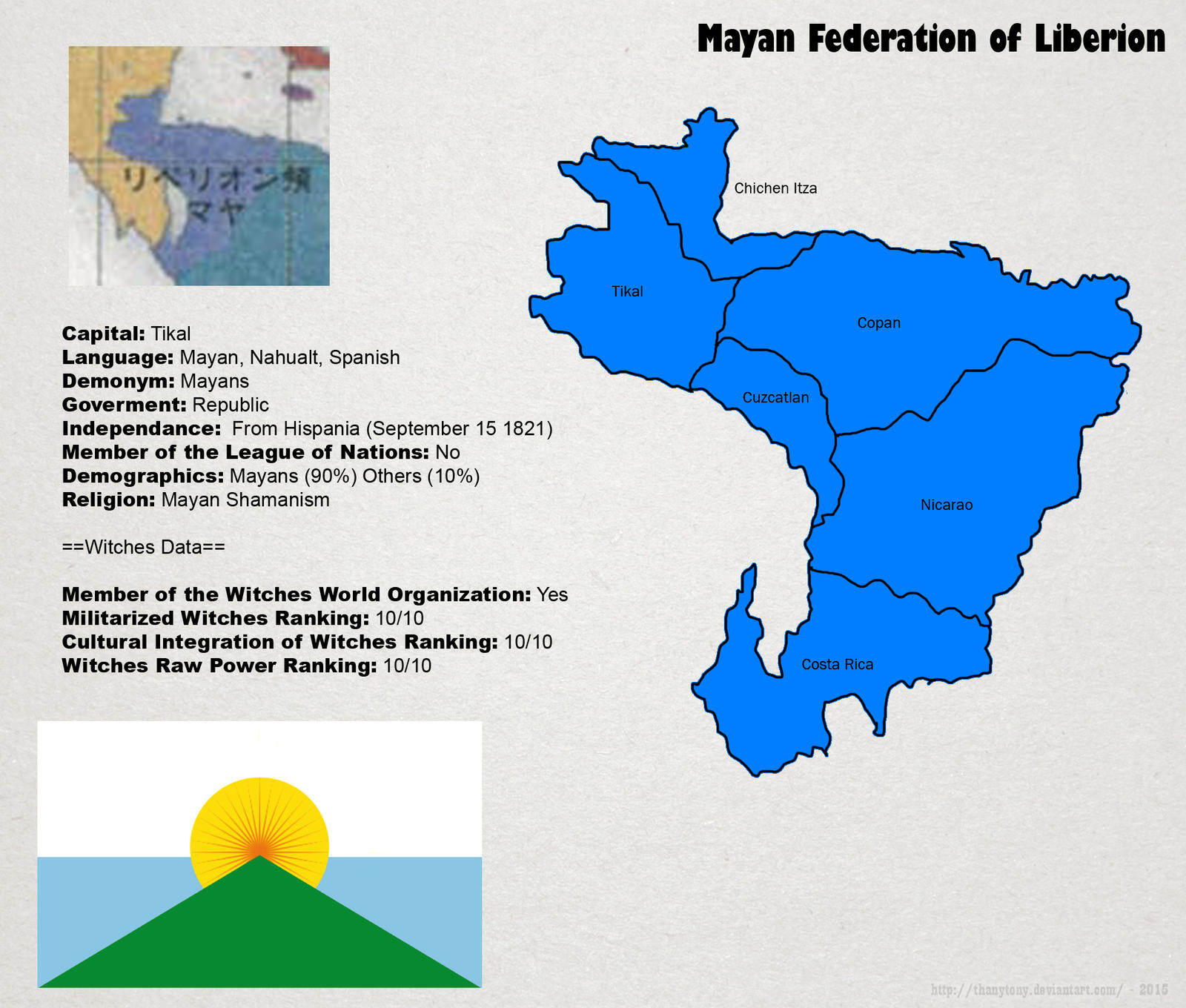 SW: Map of The Mayan Federation by ThanyTony