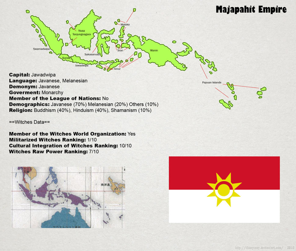 SW: Map of Majapahit by ThanyTony