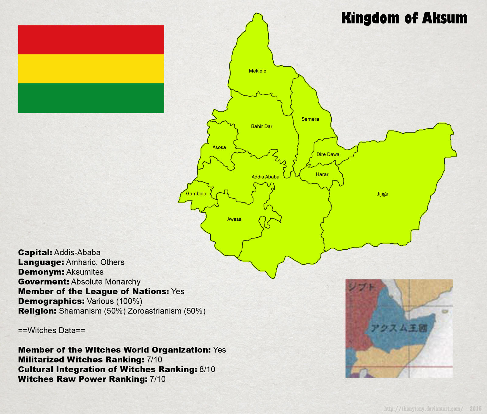 SW: Map of Aksum by ThanyTony