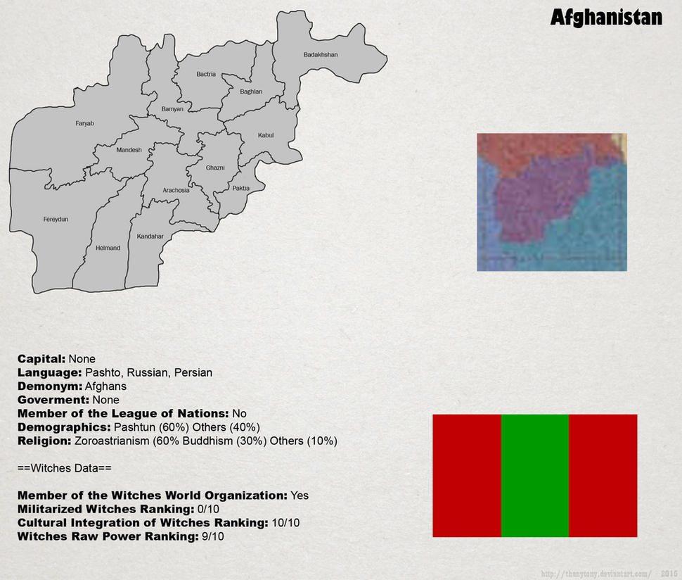 SW: Map of Afghanistan by ThanyTony