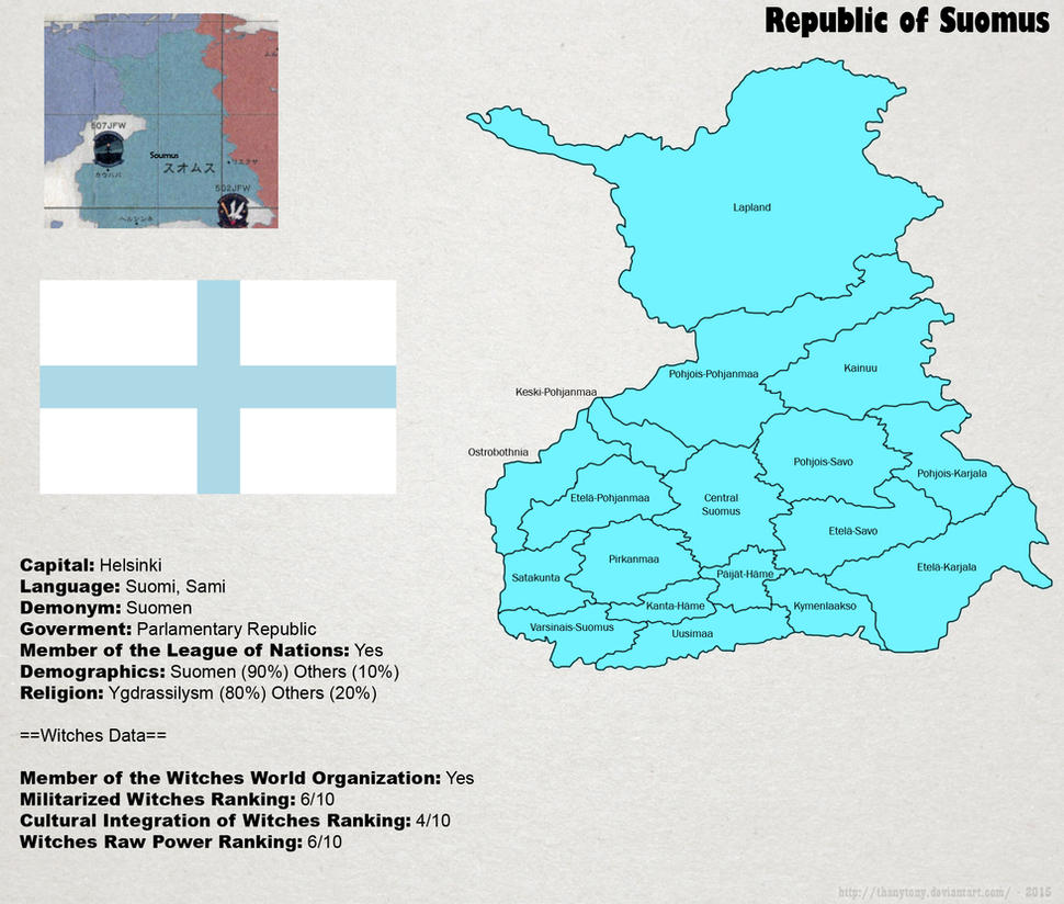 SW: Map of Suomus by ThanyTony