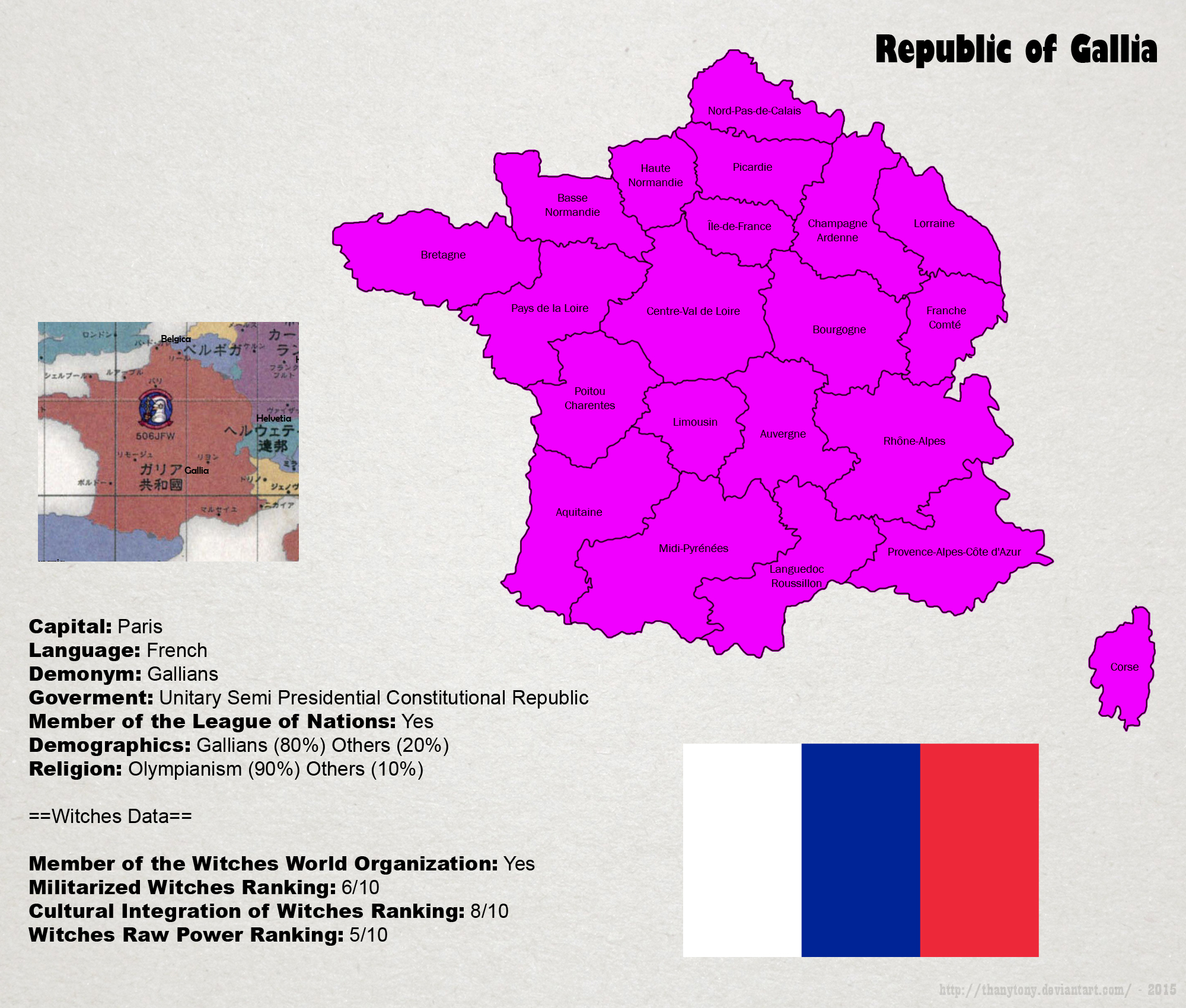 SW: Map of Gallia by ThanyTony