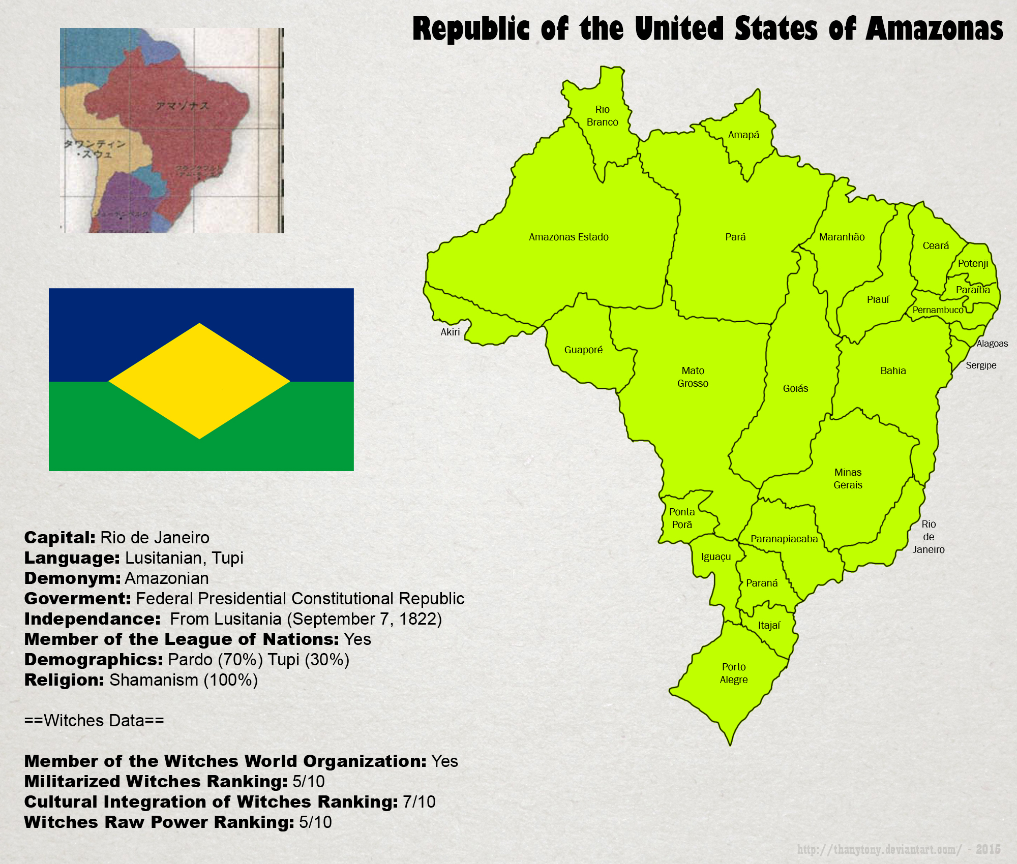 SW: Map of Amazonas by ThanyTony