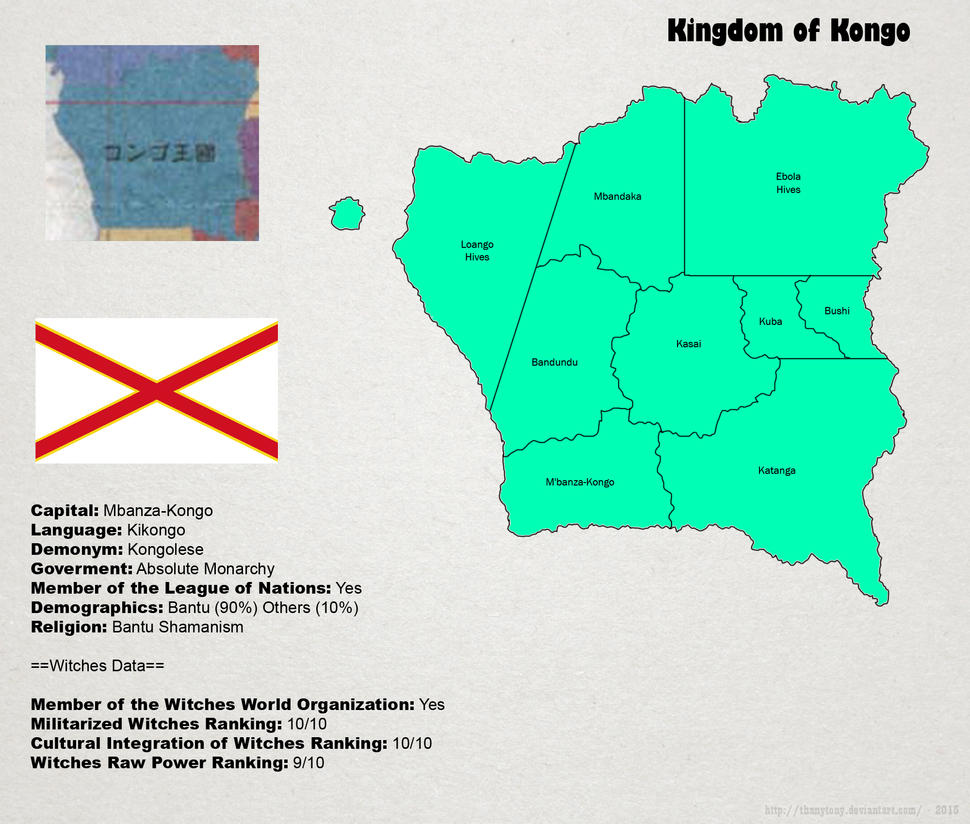 SW: Map of Kongo by ThanyTony