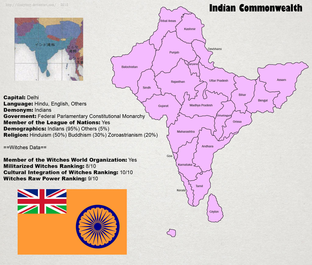 SW: Map of India by ThanyTony