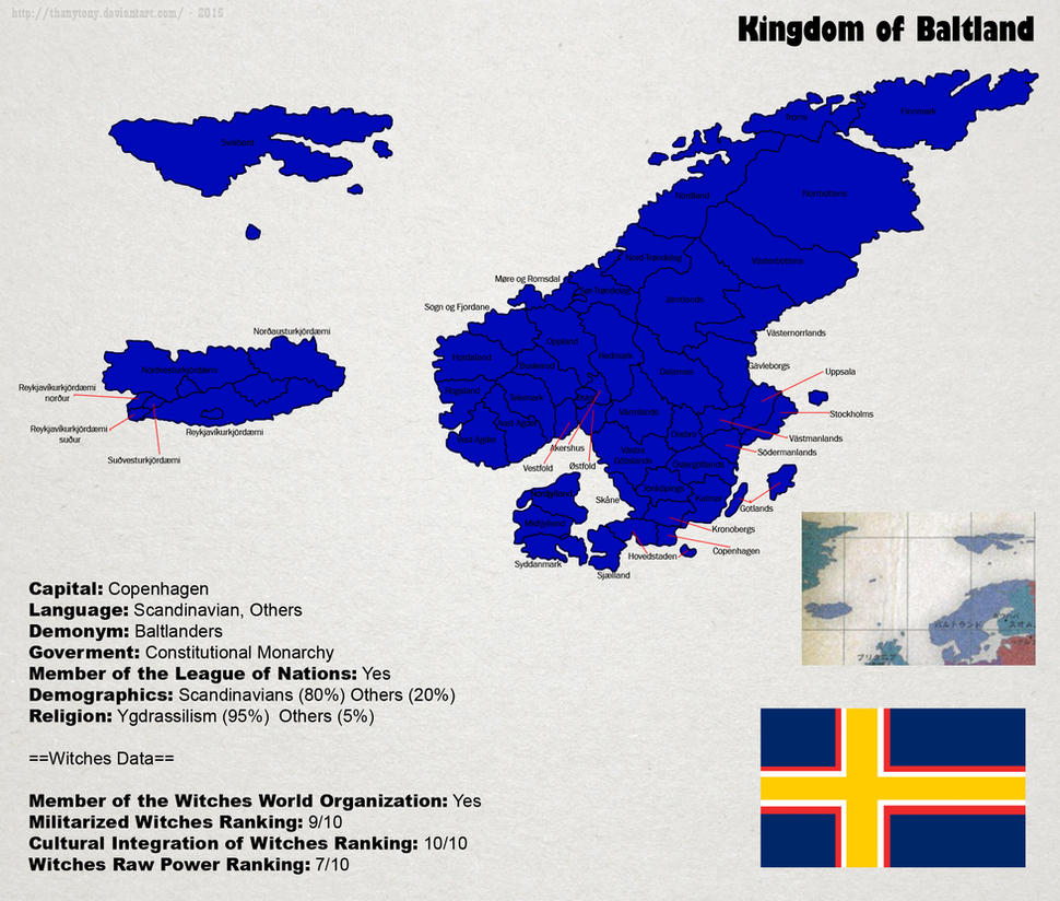 SW: Map of Baltland by ThanyTony