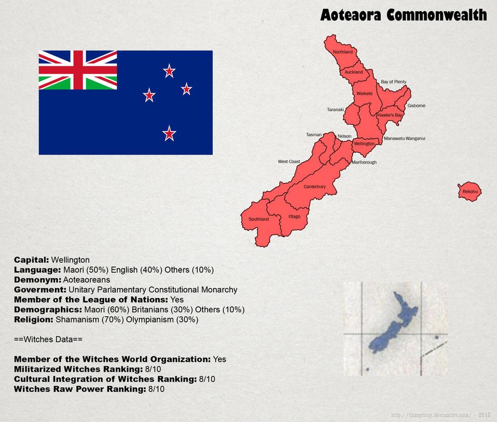 SW: Map of Aoteaora by ThanyTony
