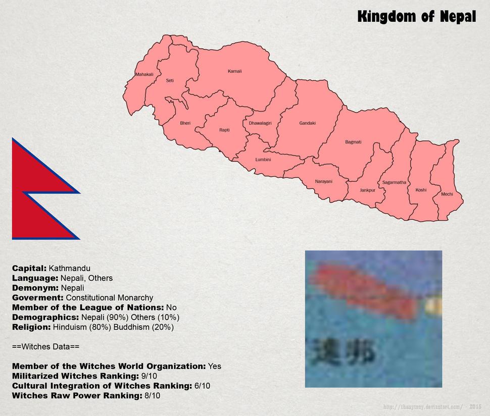 SW: Nepal Map by ThanyTony