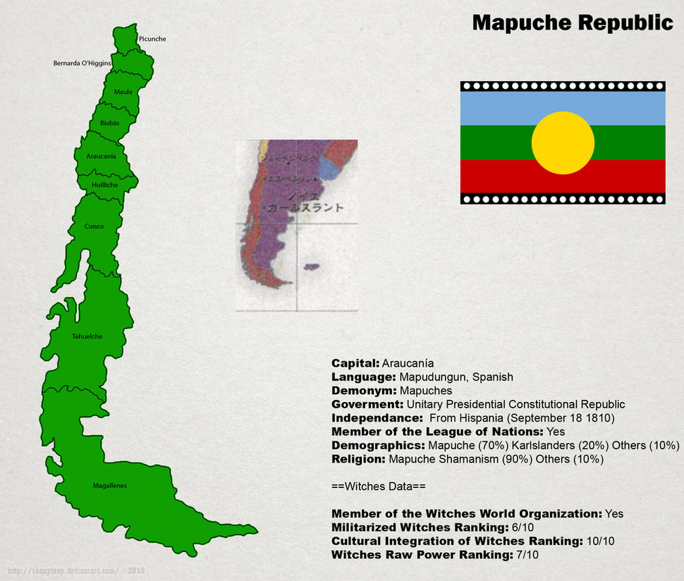 SW: Map of Mapuche by ThanyTony