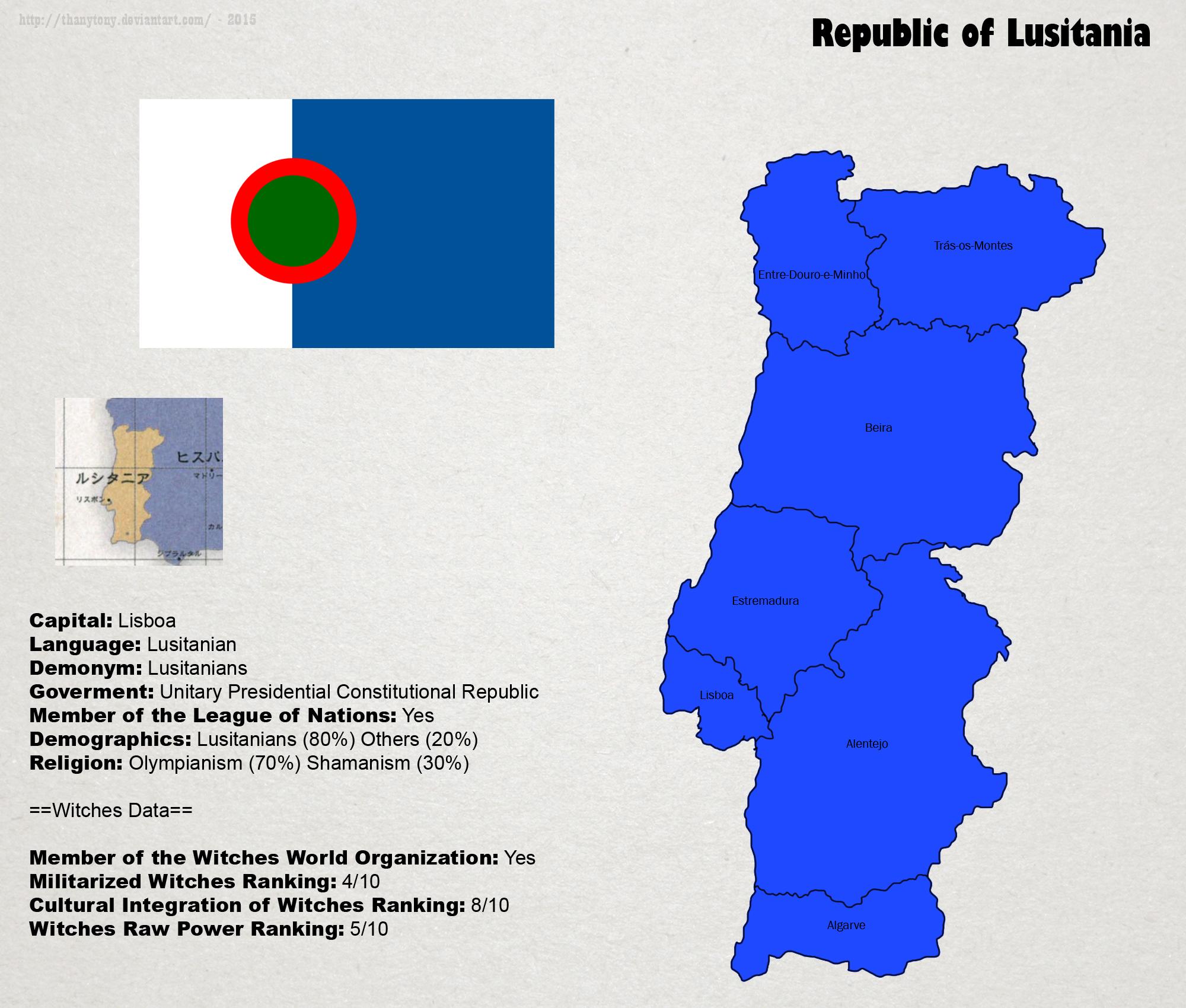 SW: Map of Lusitania by ThanyTony
