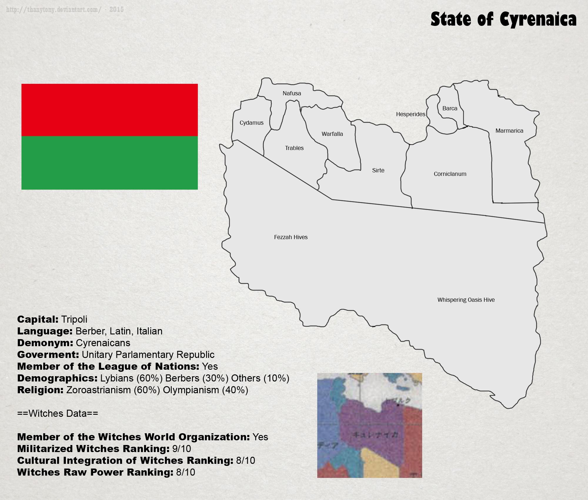 SW: Map of Cyrenaica by ThanyTony