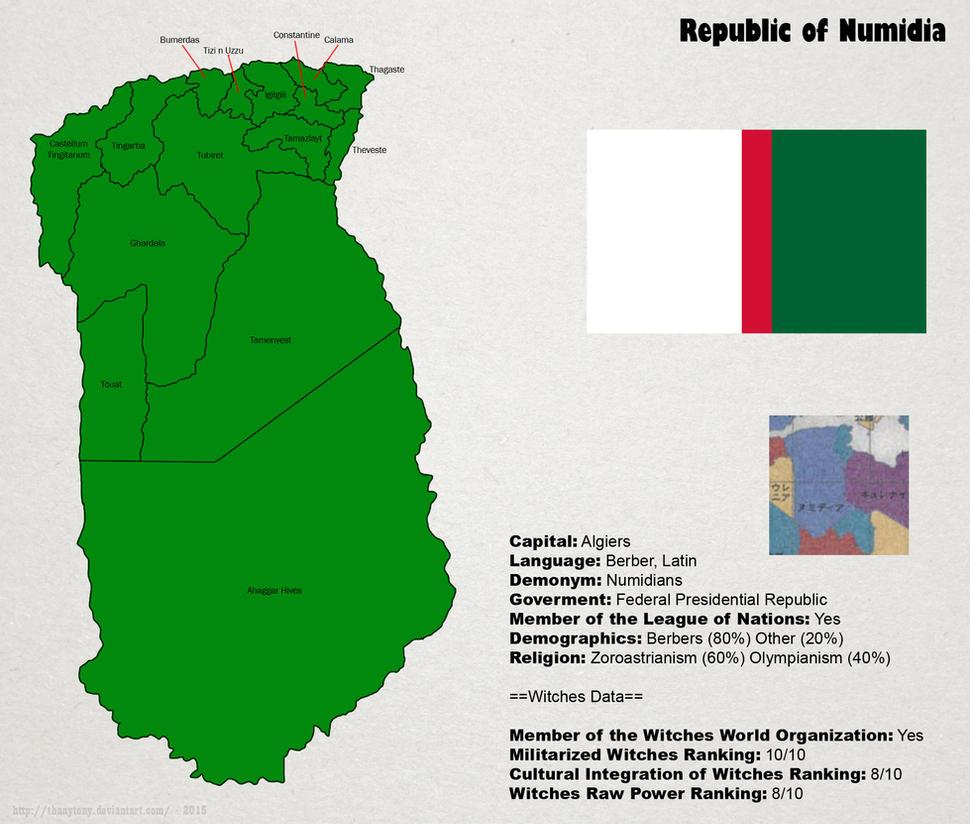 SW: Map of Numidia by ThanyTony