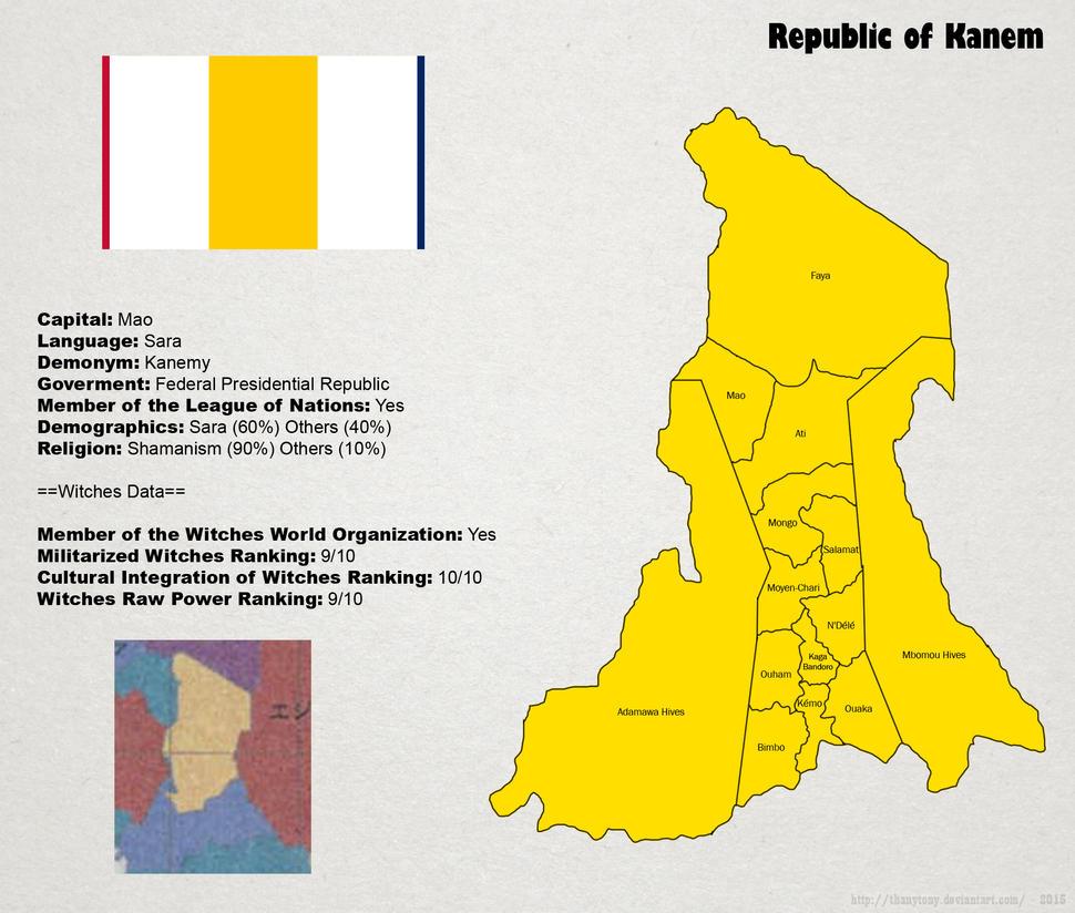 SW: Map of Kanem by ThanyTony