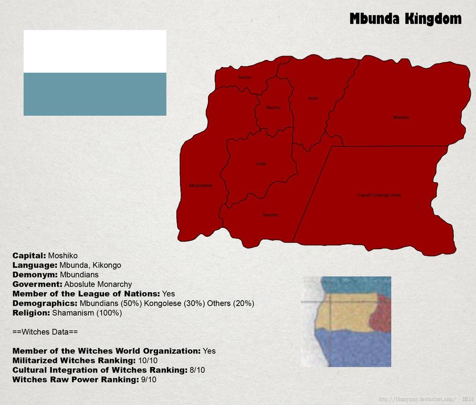 SW: Map of Mbunda by ThanyTony