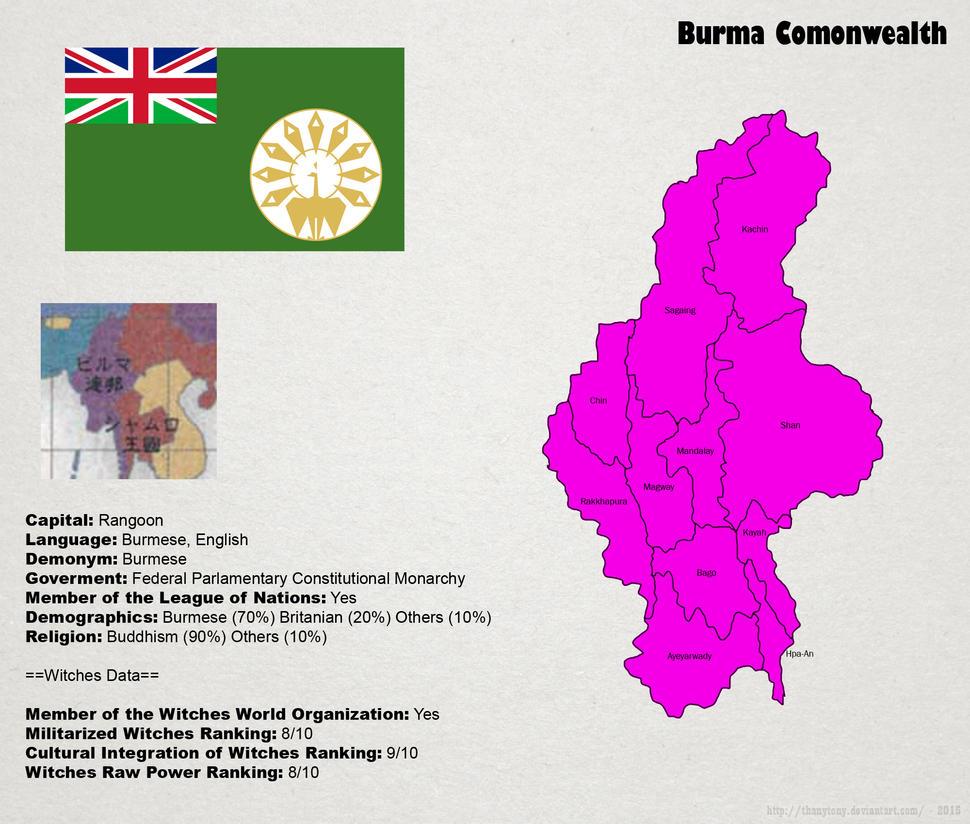 SW: Map of Burma by ThanyTony