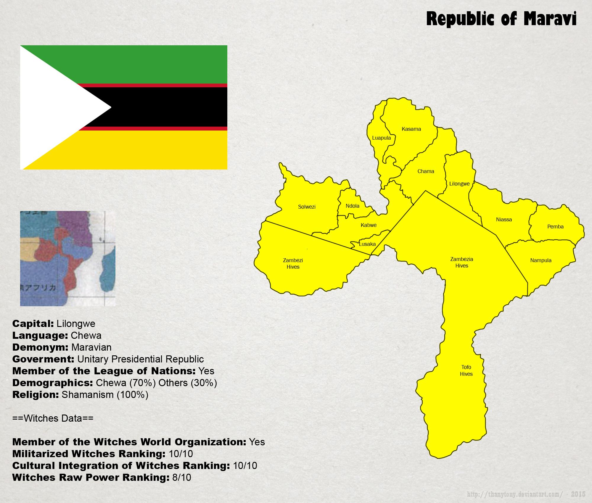 SW: Map of Maravi by ThanyTony