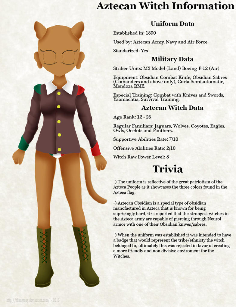 SW Witch Data: Aztecan Witches by ThanyTony