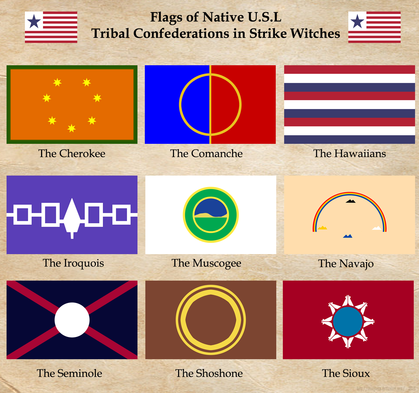 SW: United States of Liberion Native Flags by ThanyTony