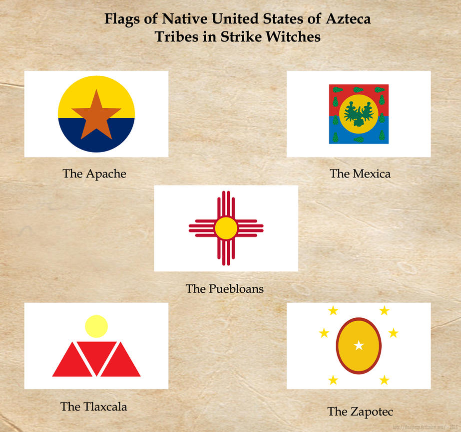 SW: United States of Azteca Natives Flags by ThanyTony