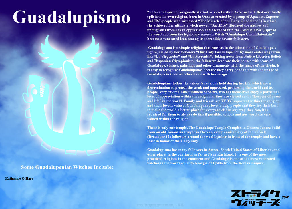 Religions of Strike Witches: Guadalupismo by ThanyTony