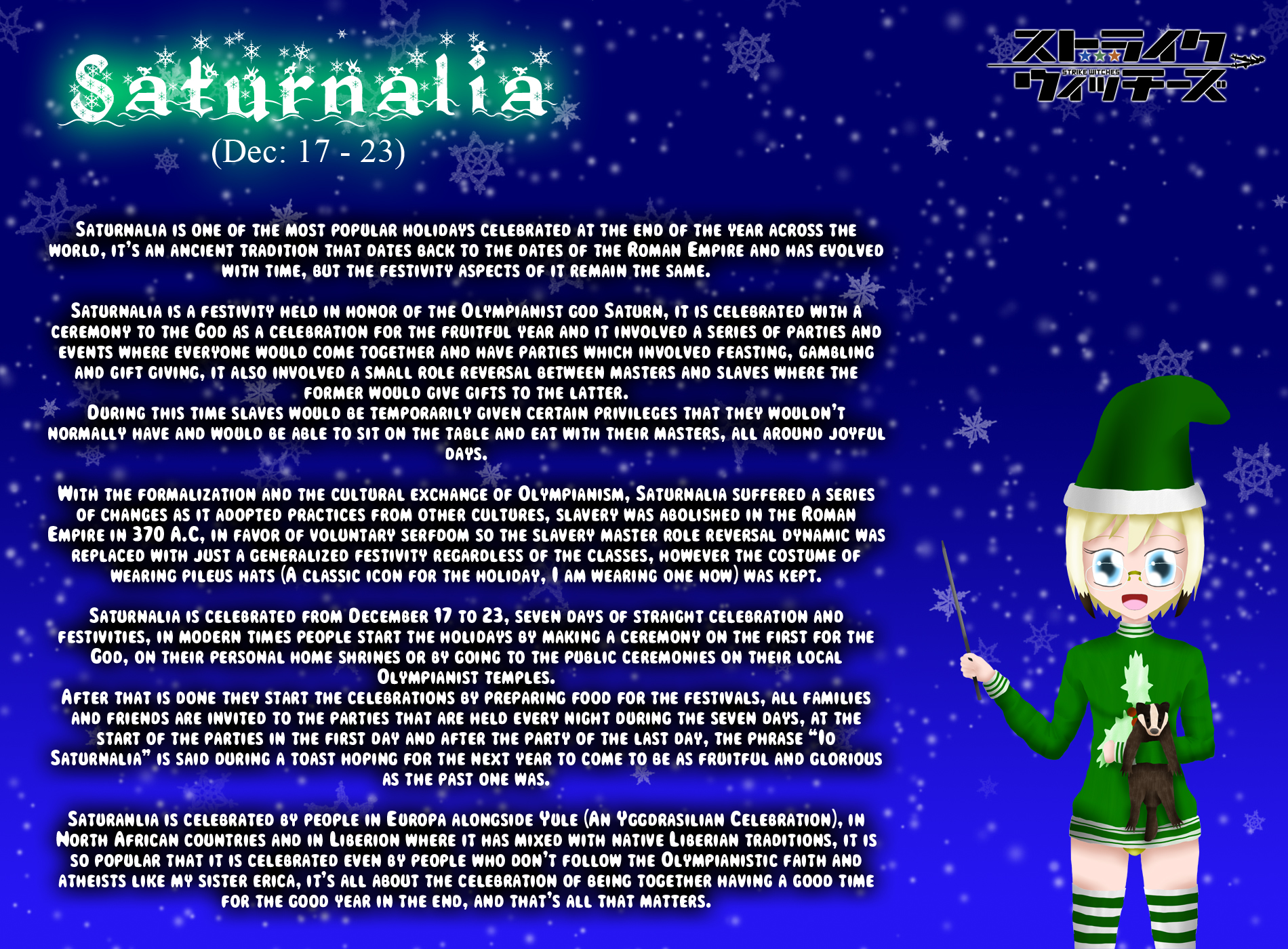 Holiday Witches 1#: Saturnalia by ThanyTony
