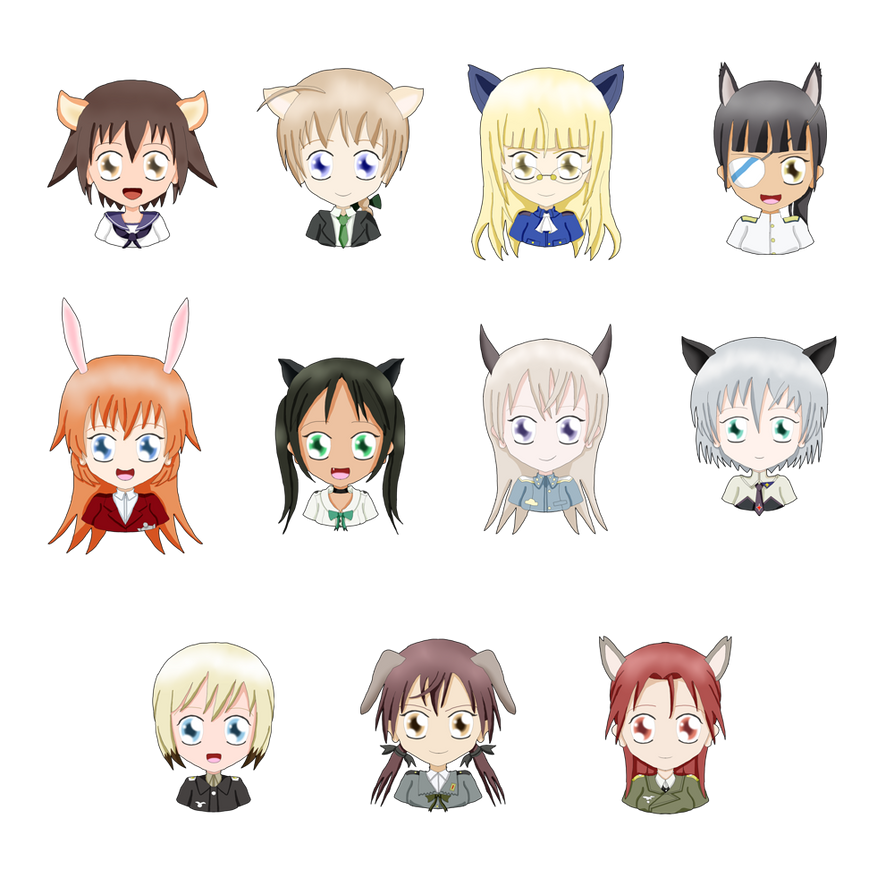 Witch Busts: The Strike Witches (501) by ThanyTony