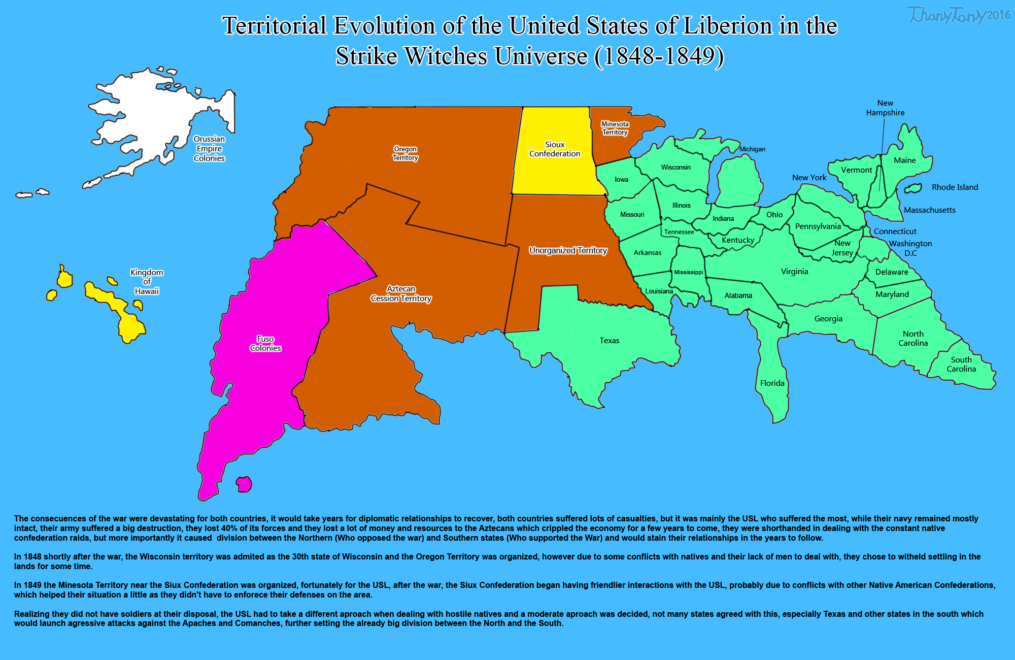 SW: Territorial Evolution of the United States 9 by ThanyTony