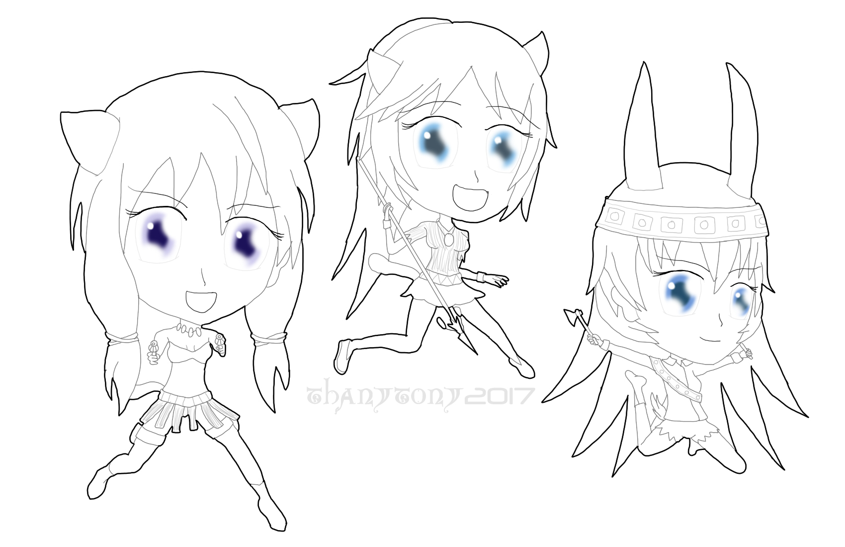 Chibi Native Liberion Witches by ThanyTony