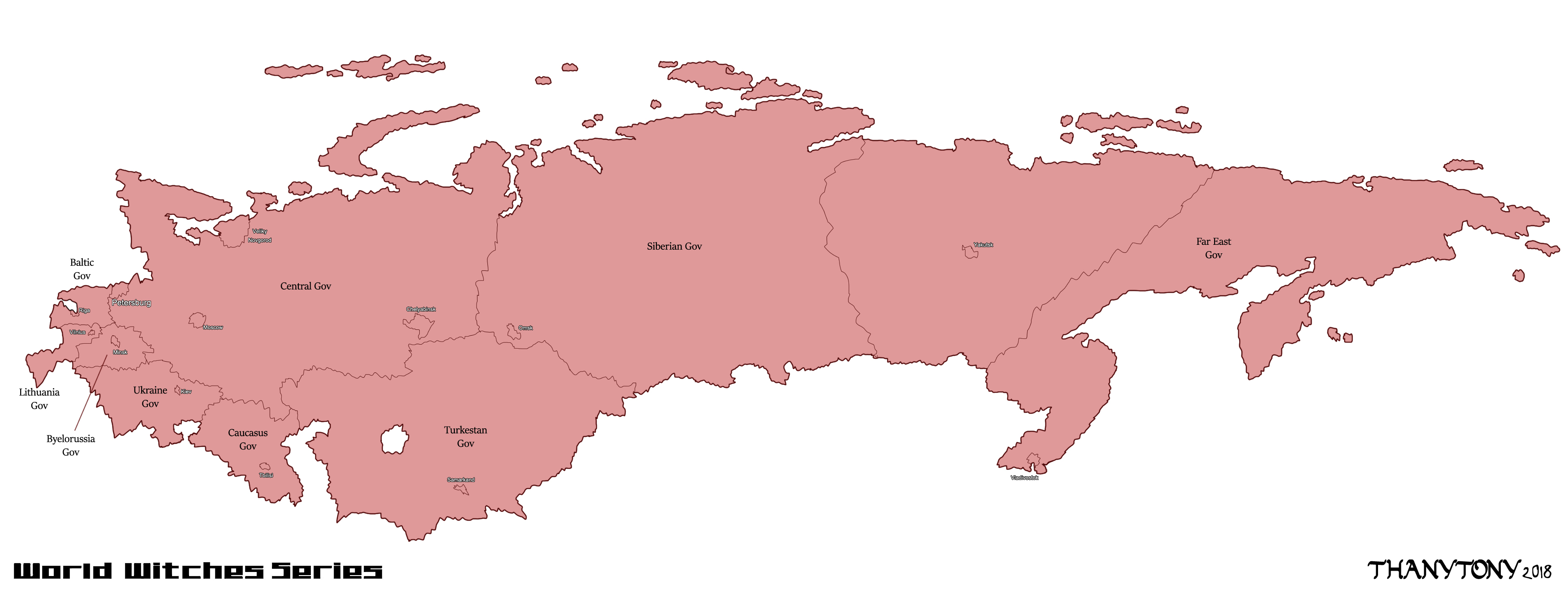 WW: Orussian Map (Test) by ThanyTony