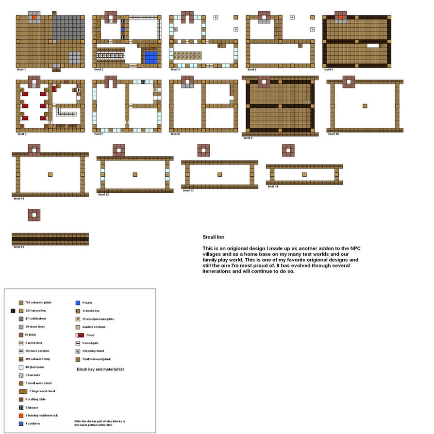 Minecraft Floorplans Small Inn By Coltcoyote On Deviantart