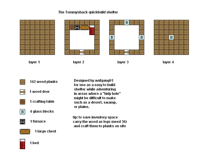 Minecraft floorplans tommyshack by coltcoyote on deviantart for Minecraft base blueprints