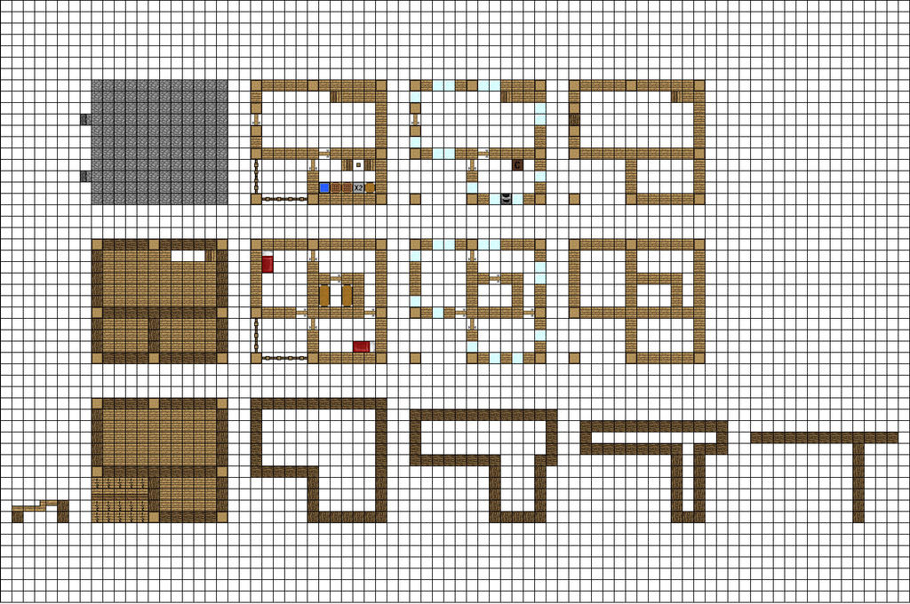 Minecraft Floorplan Small Farmhouse By ColtCoyote On