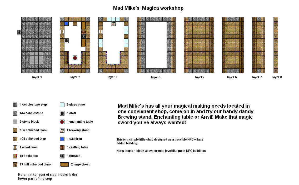 Mad Mikes Magica Shop Minecraft Floorplan By Coltcoyote On Deviantart