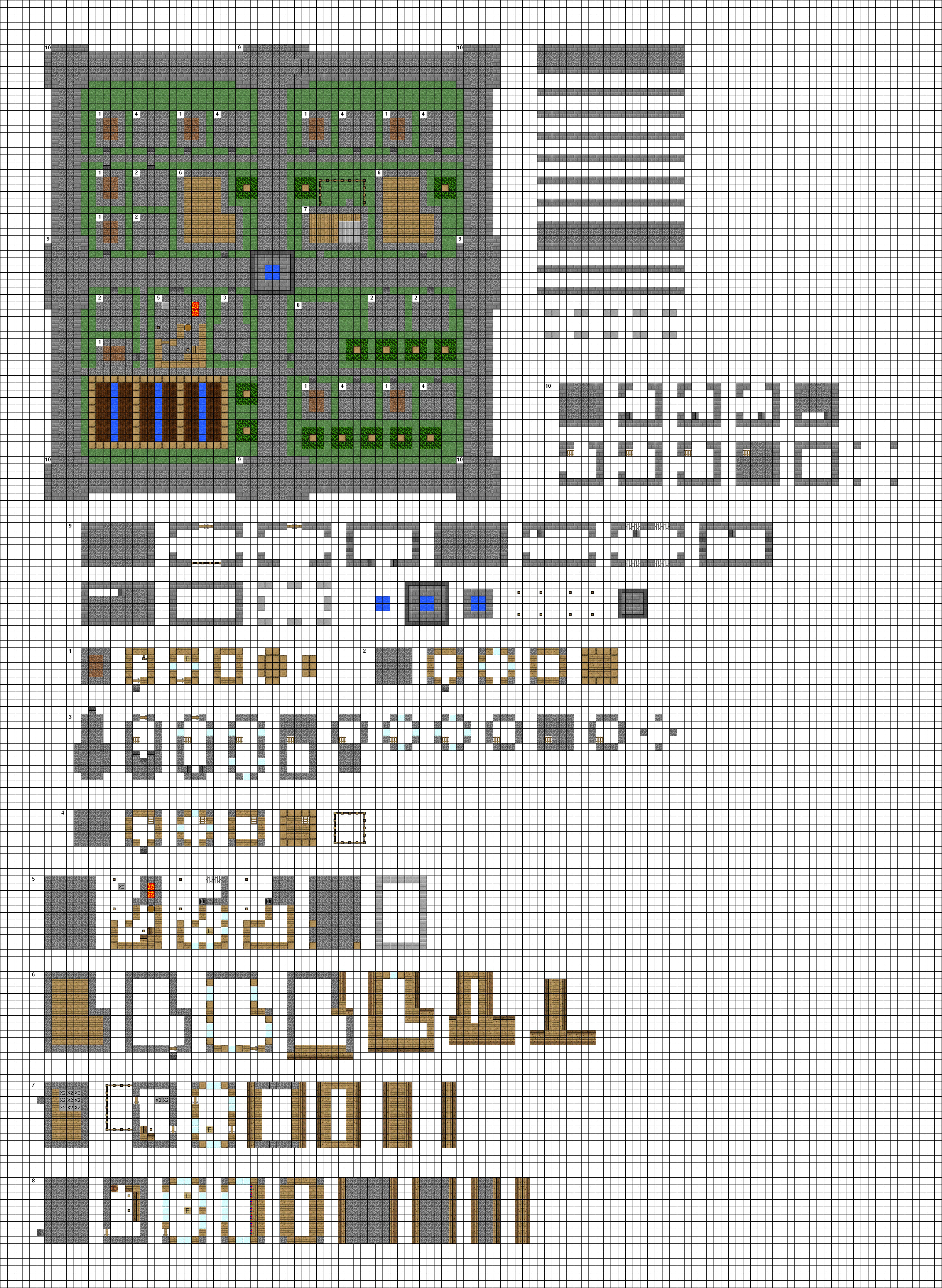 small fortified village WIP by ColtCoyote on DeviantArt