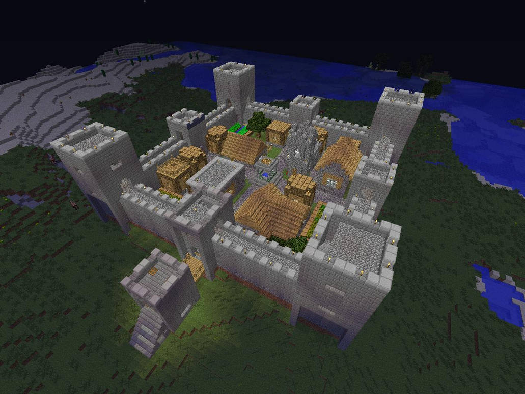 Small Fortified Village By Coltcoyote