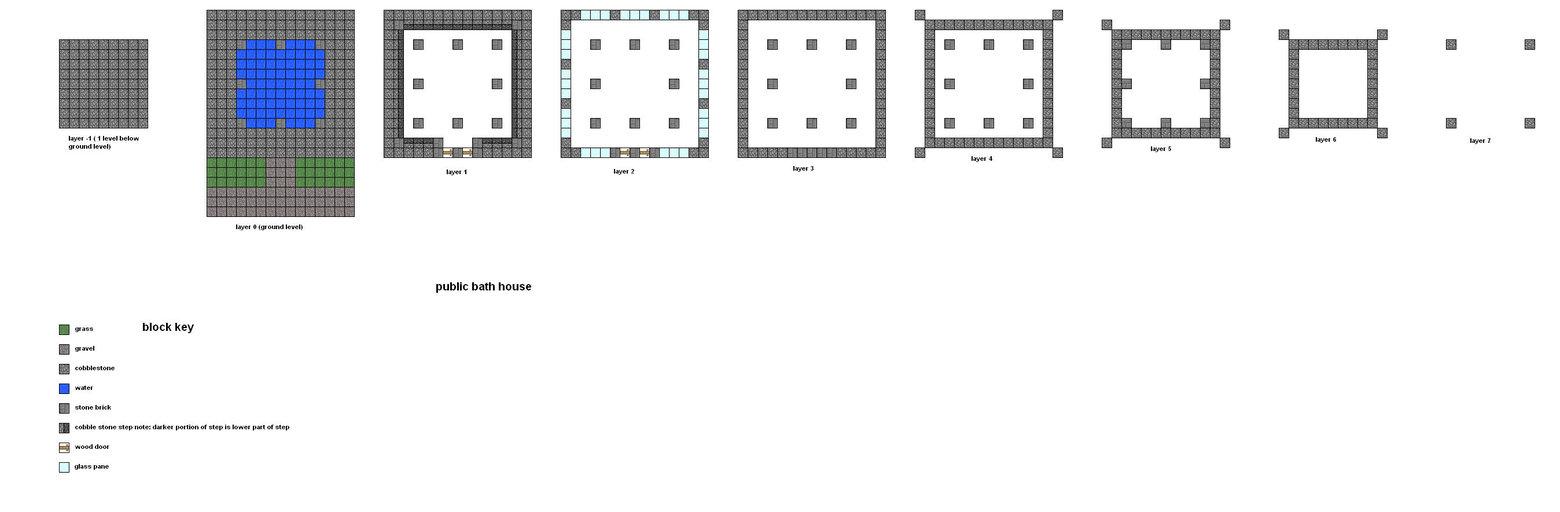 minecraft floorplans public bath by falcon01 d by