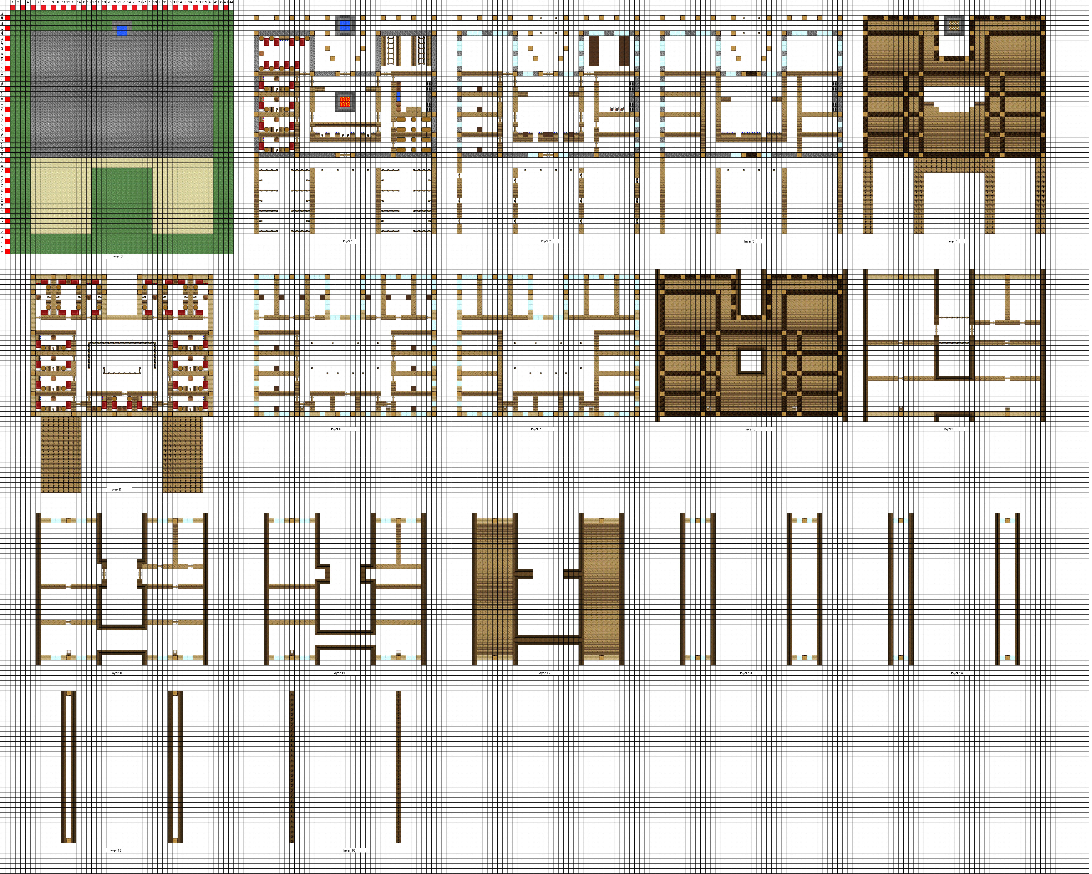 Minecraft large inn floorplans wip by coltcoyote on deviantart Large floor plans