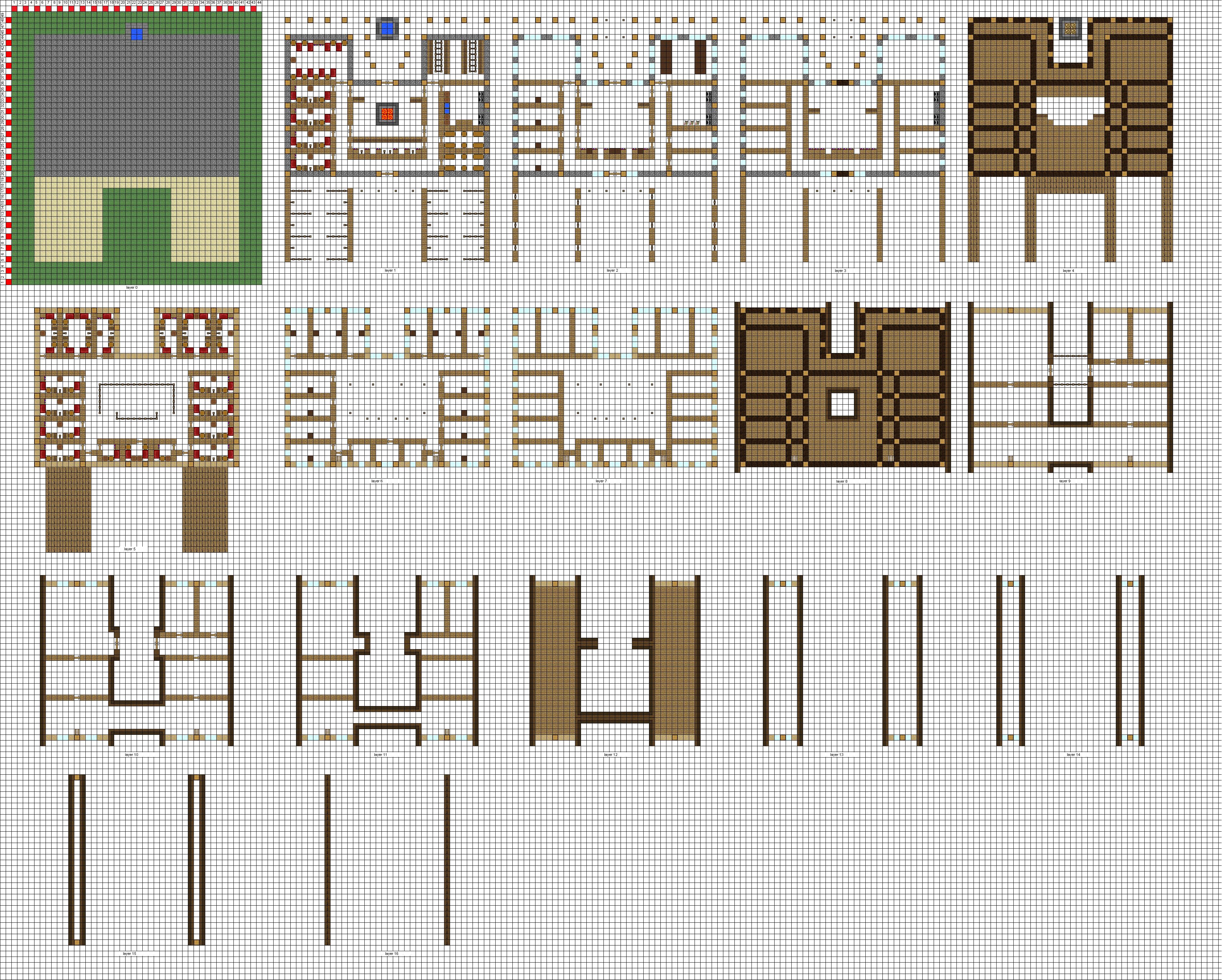 Minecraft large Inn floorplans WiP by