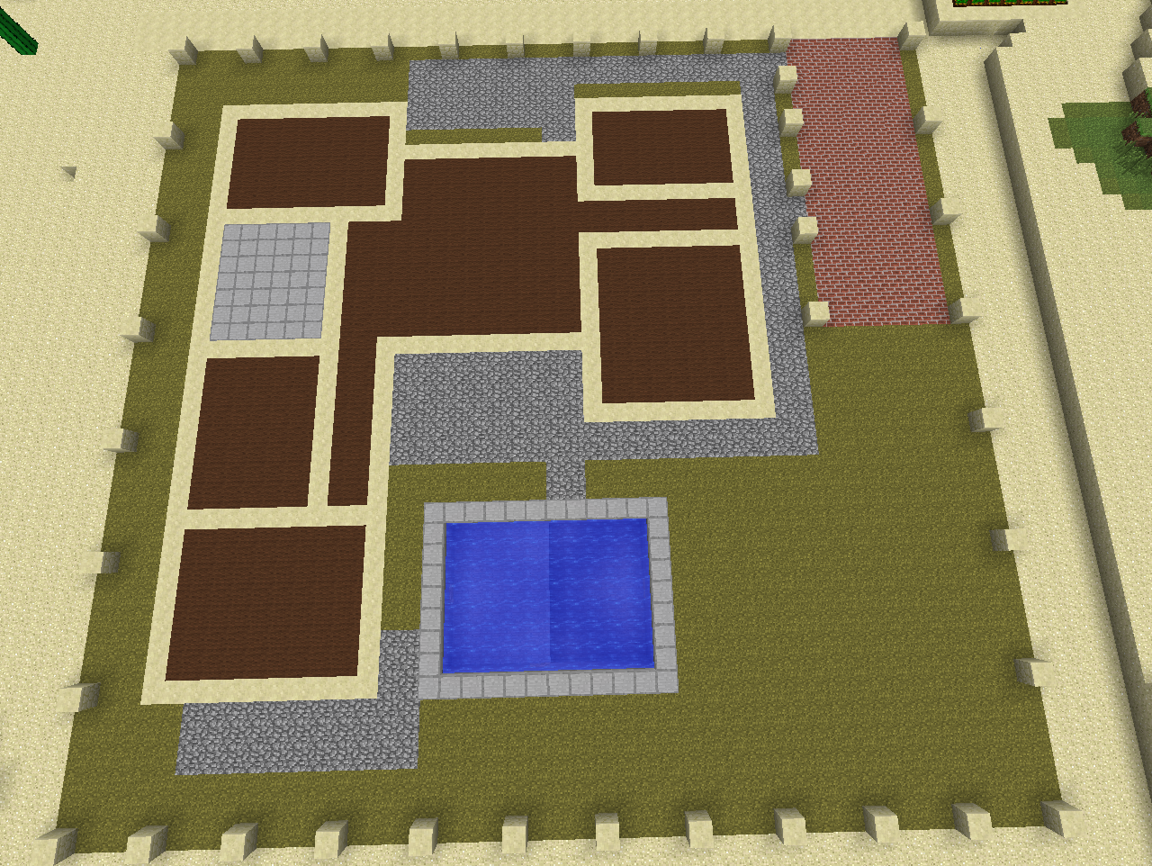 Layer 0 of modern house by coltcoyote on deviantart for Minecraft big modern house tour